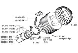 Cylinderkit Polini 57mm 130cc