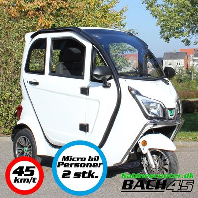 Kabinescooter Bach 45 - Silk white - 45km/t