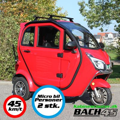 Kabinescooter Bach 45 - Wine red - 45km/t