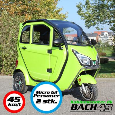 Kabinescooter Bach 45 - Lime green - 45km/t